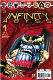 Thanos Infinity Abyss #1 Dynamic Forces Signed Jim Starlin DF COA Avengers Endgame Marvel comic book